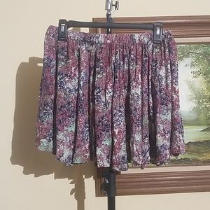 Kim chi Blue Floral Design skirt C20